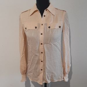 TORY BURCH sz 0 100% silk blouse, $298